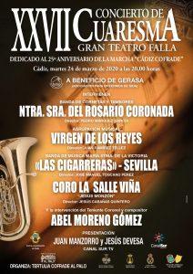 XXVII Concierto de Cuaresma a beneficio de Gerasa. @ GRAN TEATRO FALLA