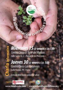 TU ALIMENTACIÓN ECOLÓGICA - charlas informativas. @ Centro Cívico El Tejar del Mellizo y Centro Cívico Las Columnas.  Ambos en Sevilla