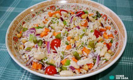 Ensalada de arroz basmati con legumbres