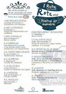 I RUTA GASTRONÓMICA DE ROTA 2020 @ 15 establecimientos hosteleros de Rota (Cádiz)
