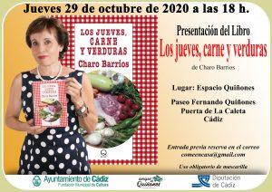 """Presentación libro """"Los Jueves, carne y verduras"""" @ Espacio Quiñones, junto Puerta de La Caleta, Cádiz."""