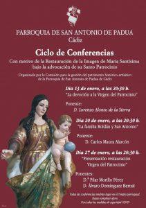 Ciclo de conferencias de la Parroquia de San Antonio @ PARROQUIA DE SAN ANTONIO DE PADUA, CADIZ