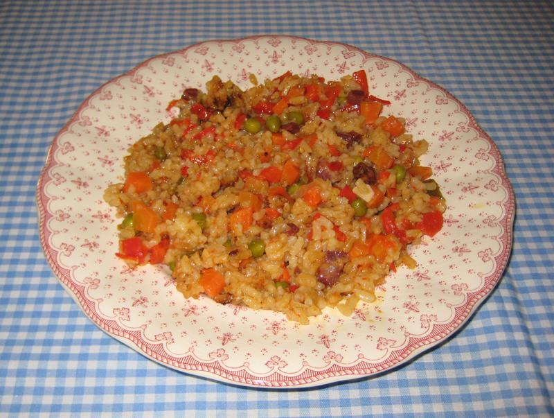 Arroz de invierno o arroz con jamón