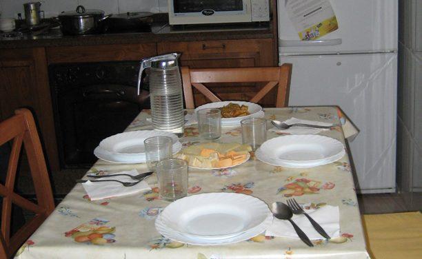 Comer o no en la cocina