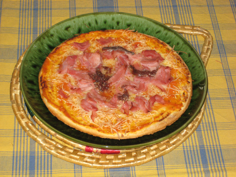 Pizza casera muy digna