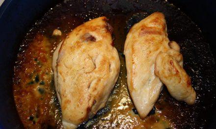 Pechugas de pollo rellenas de jamón