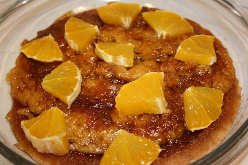 Tarta de naranja (o pomelo) positiva