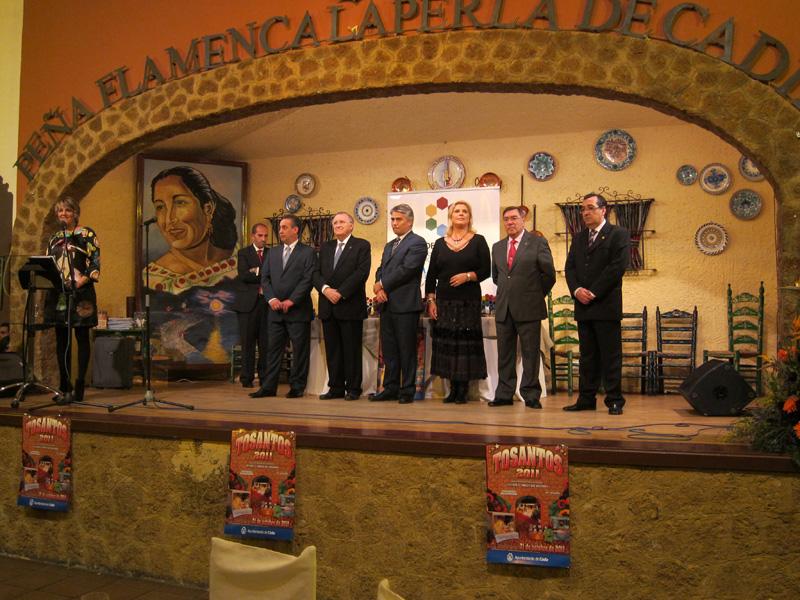 Cena entrega premios Tosantos 2011