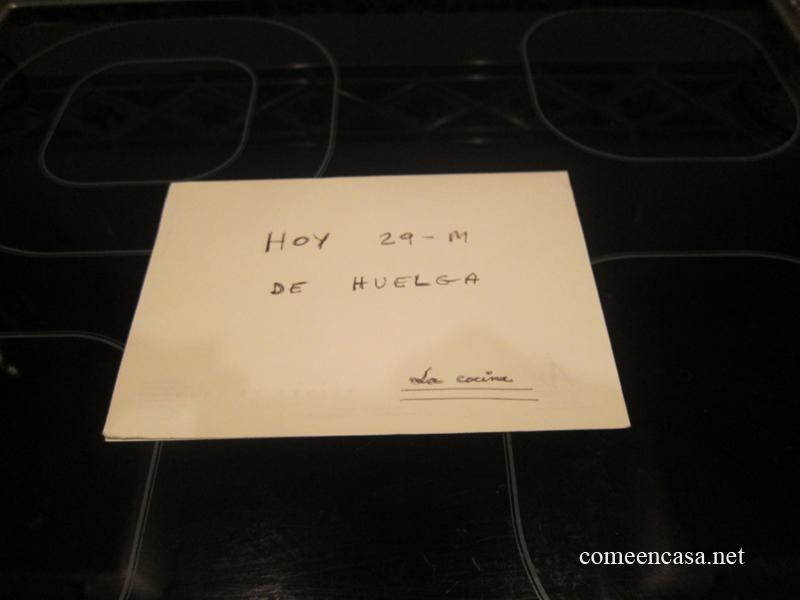 Mi cocina hizo huelga