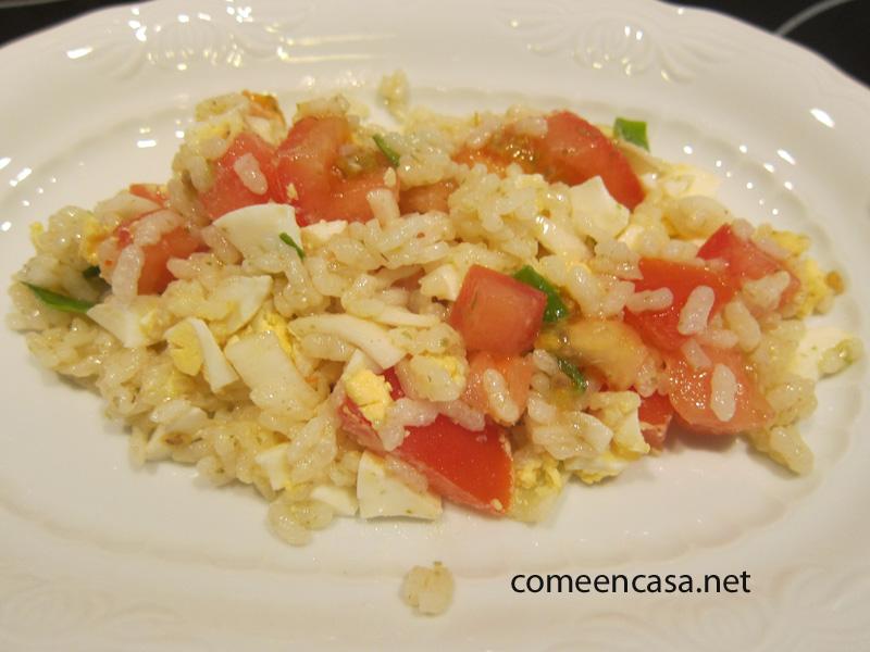 Ensalada de arroz improvisada