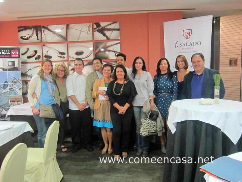 Blogueros en Arrocería La Plaza