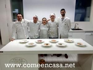 Taller de gazpacho en la Escuela de Hostelería de Sevilla