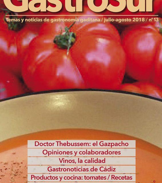 Llega el número 13 de Gastrosur