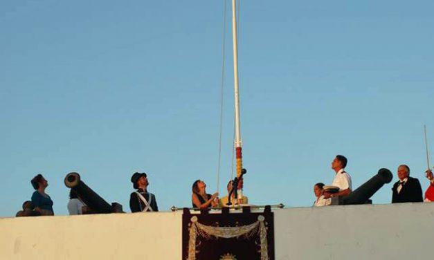 Puntales: izado de la bandera y homenaje a José M. Hesle