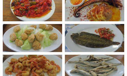 Almorzando en Juanito Coronel, Punta Umbría