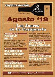 LA CASAPUERTA PROGRAMA AGOSTO @ LA CASAPUERTA BAR