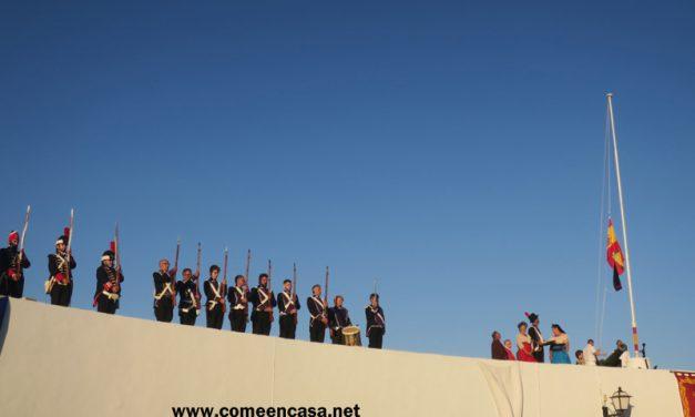 Izado de la bandera en Puntales 2019