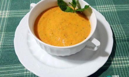 Crema de tomate y apio